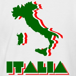 White/red Italia Men's T-Shirts - Men's Baseball T-Shirt