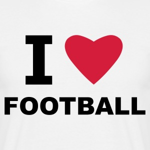 White I love Football Men's T-Shirts - Men's T-Shirt