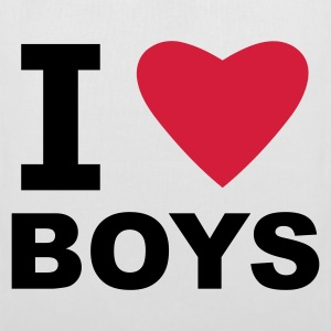 White I Love Boys Bags  - Tote Bag