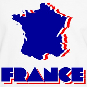 White/navy France Men's T-Shirts - Men's Ringer Shirt