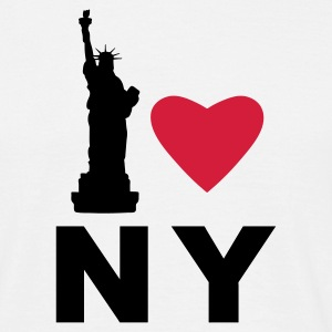 White I Love New York Men's T-Shirts - Men's T-Shirt