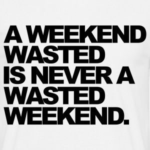 Vit A Weekend Wasted T-shirts - T-shirt herr
