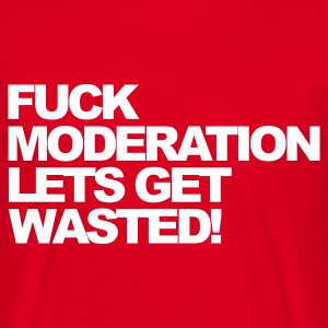 Red Fuck Moderation Men's T-Shirts - Men's T-Shirt