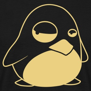 Black TUX Penguin, LINUX  Men's T-Shirts - Men's T-Shirt