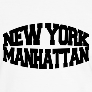 White/black new york manhattan Men's T-Shirts - Men's Ringer Shirt