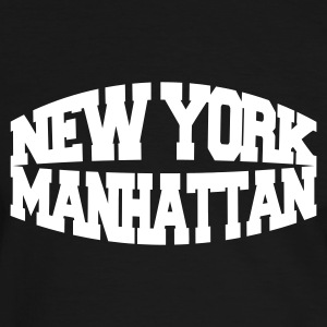 Black/white new york manhattan Men's T-Shirts - Men's Ringer Shirt