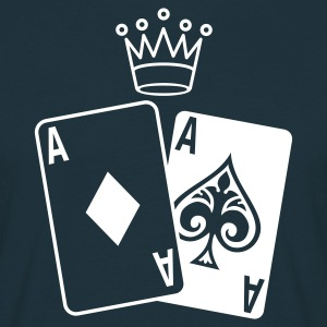 Navy Poker Cards Men's T-Shirts - Men's T-Shirt