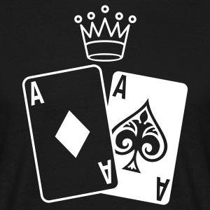 Sort Poker Cards T-shirts - Herre-T-shirt