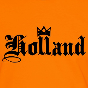 Orange/white Holland with crown Men's T-Shirts - Men's Ringer Shirt