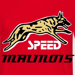 Rouge speed malinois T-shirts - T-shirt Homme