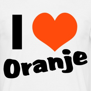 Wit I Love Oranje T-shirts - Mannen T-shirt