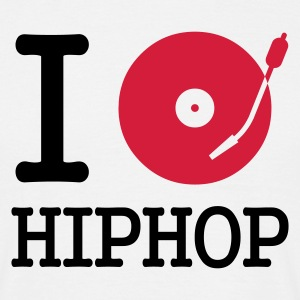 I dj / play / listen to hiphop T-Shirts - Herre-T-shirt