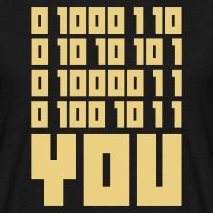 Sort FUCK YOU - Binary code T-shirts