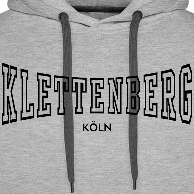 Klettenberg Outline Kapuzenshirt Farbwahl (schwarzer Druck)