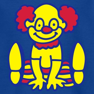 Royalblau Fröhlicher Clown Kinder T-Shirts - Teenager T-Shirt