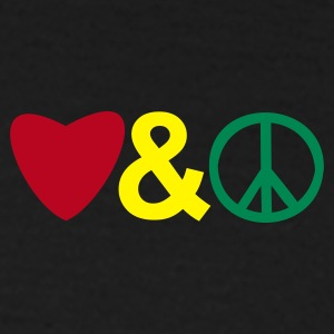 shirt love and peace - Männer T-Shirt