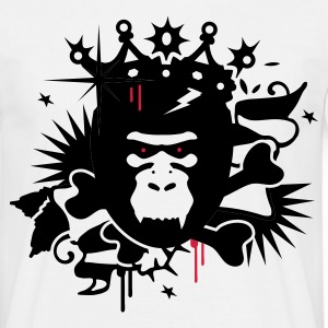 White King Kong - gorilla with a crown Men's T-Shirts - Men's T-Shirt