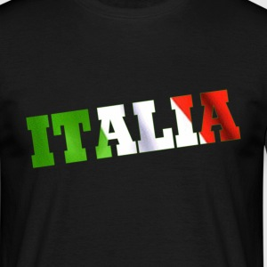Italia flag design t shirt - Men's T-Shirt