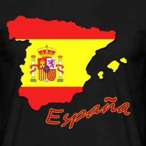 Black espana flag  Men's T-Shirts - Men's T-Shirt