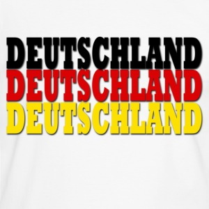 White/black deutschland flag Men's T-Shirts - Men's Ringer Shirt