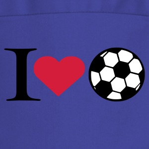 Royal blue I love soccer  Aprons - Cooking Apron