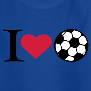 Royal blue I love soccer Kids' Shirts - Teenage T-shirt