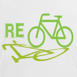 White/black Cycle Recycle Women's T-Shirts - Women's Ringer T-Shirt