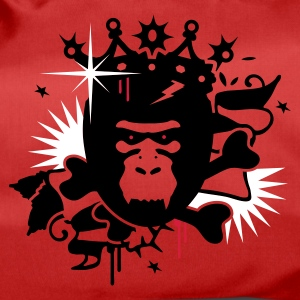 Red King Kong - gorilla with a crown Bags  - Duffel Bag