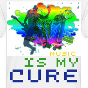 Music is my cure - Men's T-Shirt