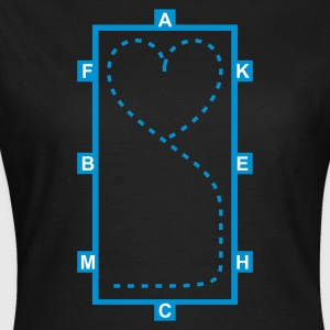 Noir Dressage Riding heart - Dressage Equitation coeur T-shirts - T-shirt Femme