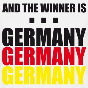 Weiß And the Winner is GERMANY T-Shirts - Männer T-Shirt
