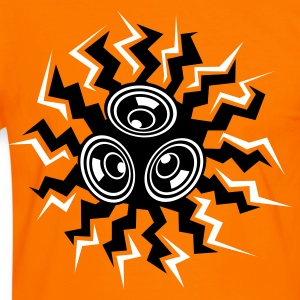 Orange/schwarz BASS-SONNE T-Shirts - Men's Ringer Shirt