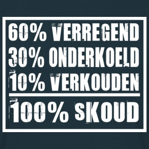 100% sKoud (white) - Mannen T-shirt