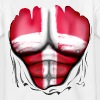 Denmark Flag Ripped Muscles, six pack, chest t-shi - Teenage T-shirt