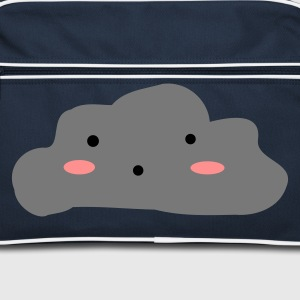 Navy/white Cloudy skies Bags  - Retro Bag