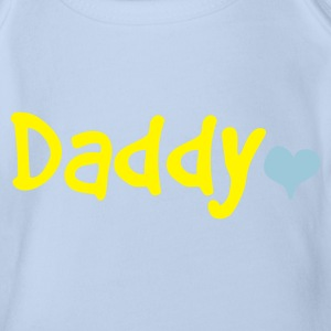 Daddy with Heart - Organic Short-sleeved Baby Bodysuit