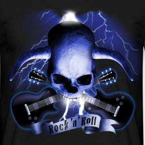 skull_and_horns_and_guitars_b T-shirts - T-shirt herr