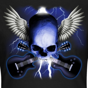 Schwarz skull_and_wings_and_guitars T-Shirts - Frauen T-Shirt
