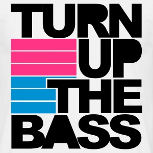 Wit Turn Up The Bass T-shirts - Mannen T-shirt