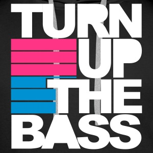 Schwarz Turn Up The Bass Pullover - Männer Premium Hoodie