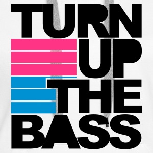 Wit Turn Up The Bass Sweaters - Vrouwen Premium hoodie
