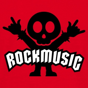 Röd rock music heavy metal T-shirts - T-shirt herr