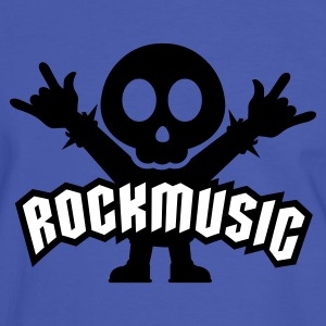 Blau/weiß Rock Music Metal Sign Two Fingers T-Shirts - Männer Kontrast-T-Shirt