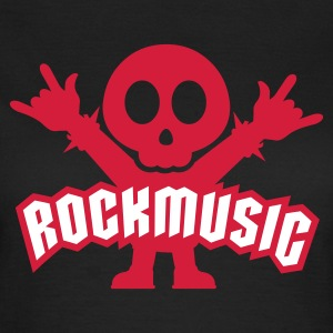 Schwarz Rock Music Metal Sign Two Fingers T-Shirts - Frauen T-Shirt
