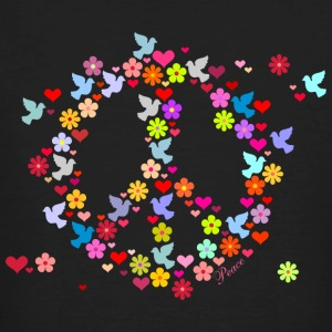 Black Blumenkinder Frieden / flower power peace (DDP) Men's T-Shirts - Men's Organic T-shirt