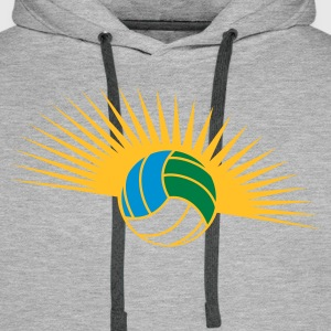 Volleyball glow Hoodies & Sweatshirts - Men's Premium Hoodie