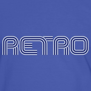 Blue retro tshirt - Men's Ringer Shirt