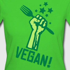 Womens BIO 'rising fist vegan' GREEN - Women's Organic T-shirt