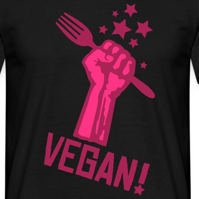 Mens 'rising fist VEGAN'