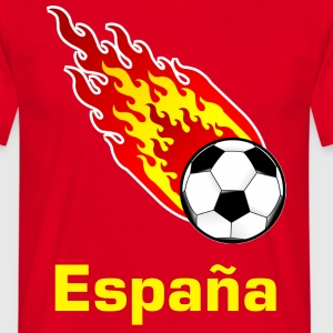 Rood Vuurbal Voetbal Spanje T-shirts - Mannen T-shirt